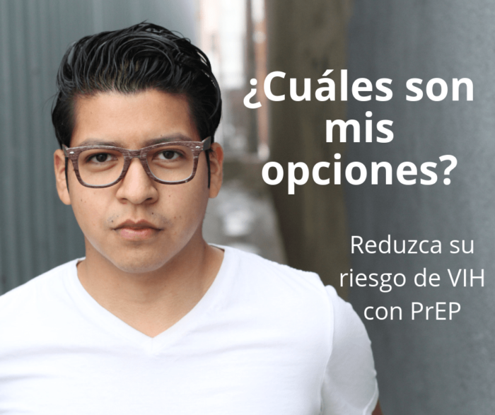 """A man has glasses with phase of """"Cuales son mis opciones"""""""