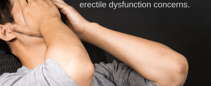 Man embarrassed talking about erectile dysfunction