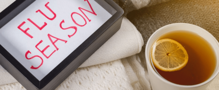 a flu season phase and a cup of tea with lemon