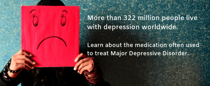 Depression treatment- A person with a drawing face of depression