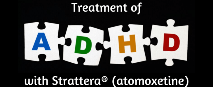 ADHD treatment in black background