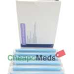 A box Vagifem-Package Menopause Medication- Vertical- with some samples.