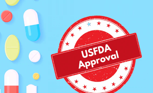 The red stamp for approval of USFDA.
