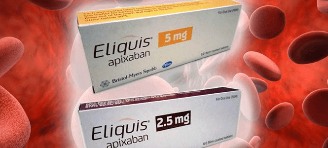 Eliquis- Two boxes of eliquis with 2.5mg and 5mg